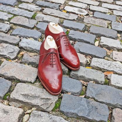 handsewn bespoke wholecut shoes