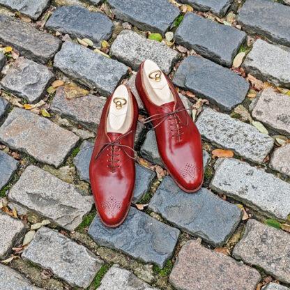 chestnut wholecut shoes