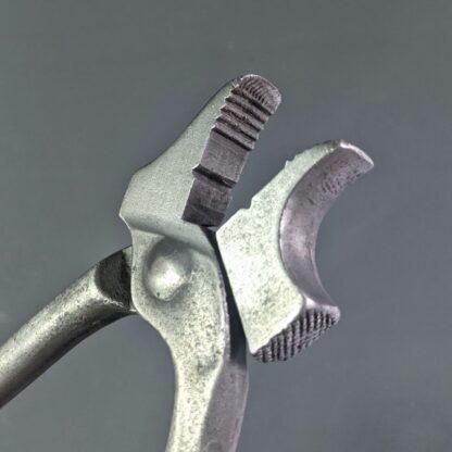 vintage lasting pliers teeth detail