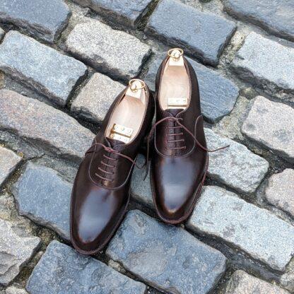 dark brown bespoke oxford shoes