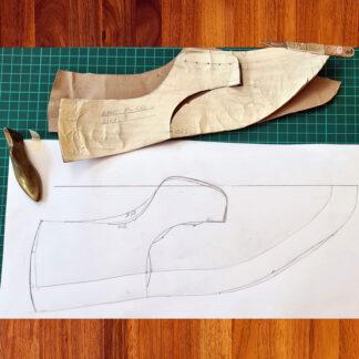 Carreducker pattern making for bespoke shoes